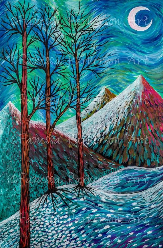 5x7 Print - Three Trees