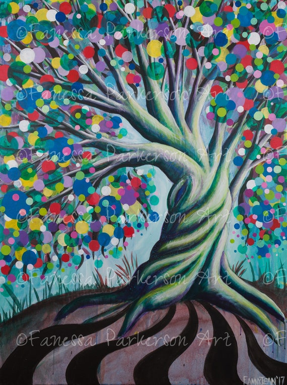 5x7 Print - The Candy Tree