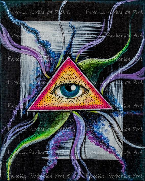 5x7 Print - Eye of Cthulu