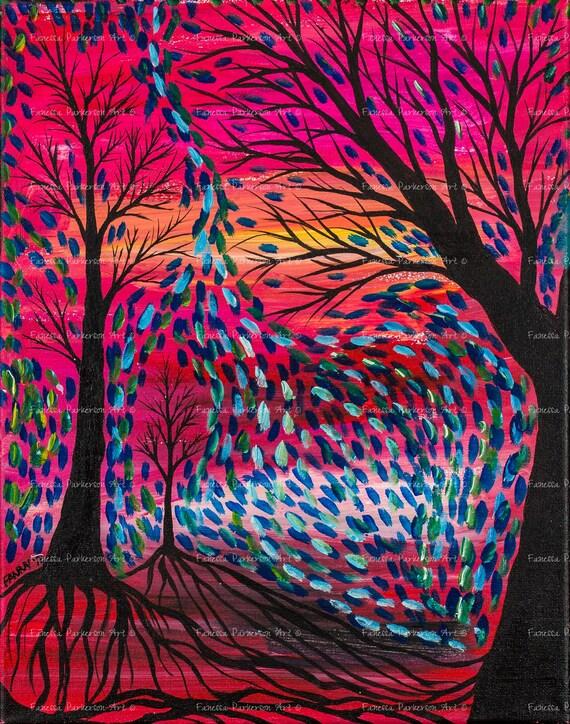 5x7 Print - Tree Strokes