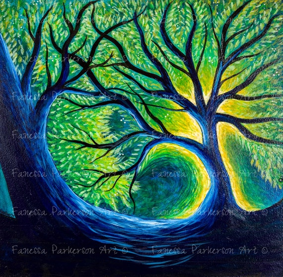16x20 Poster Board - Blue Tree
