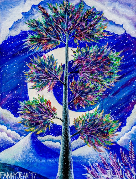 11x14 Poster Board - The Galaxy Tree