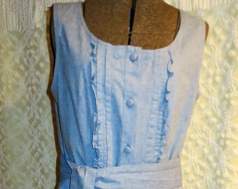 5203864933d Vintage Laura Ashley Made in Rep of Ireland Women s Denim Jumper Dress with  Matching Belt