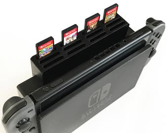 Nintendo Switch Dock Game Cartridge 12 Slot Add-On | Holds 12 Games | Lightweight | Nintendo Switch Accessory | Multiple Colors Slide On/Off