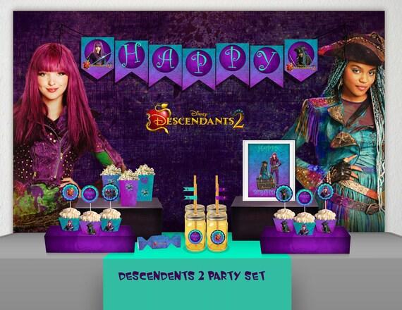Descendants 2 Birthday Party Decoration