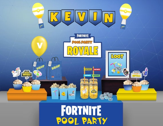 Fortnite Birthday Party Fortnite Pool Party Royale