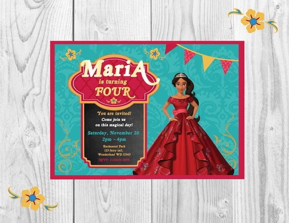 Elena Of Avalor Invitation Birthday Disney