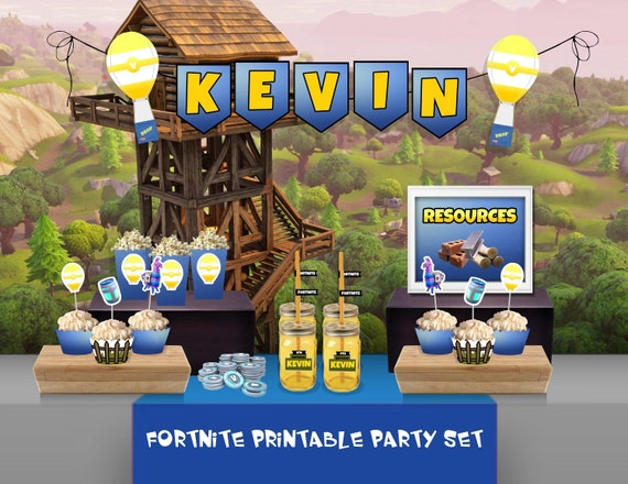 Fortnite Birthday Party Fortnite Invitation Fortnite Party Etsy
