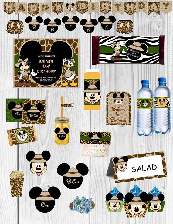 Mickey Safari Party Mickey Mouse Birthday Party Mickey Mouse | Etsy