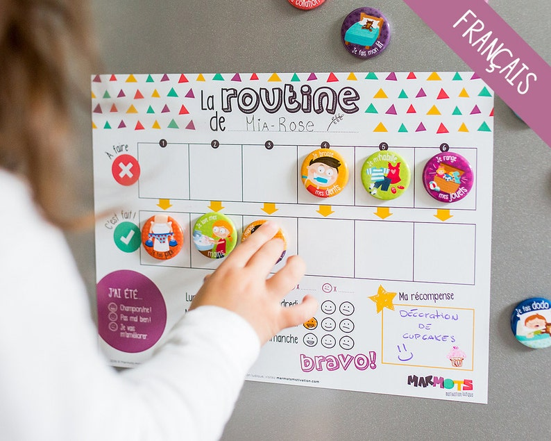My Daily Routine motivational kit  Routine chart for children image 0