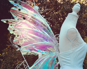 163794fb3b Large realistic iridescent fairy wings