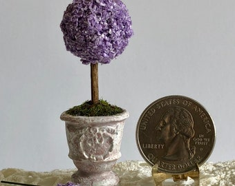 Dollhouse Miniature Lavender Topiary Artist Made