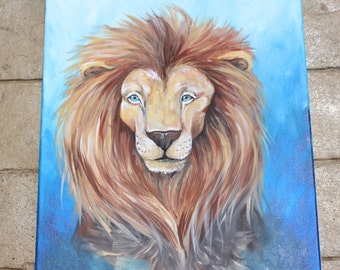 "Lion Painting (16x20"")"