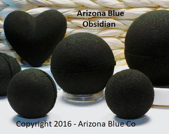 Obsidian Bath Bombs, Darker Than a Demon's Soul, Start at 99 Cents. Vegan Bath Bomb, Soft Skin, Amazing Black Bathwater, From Arizona Blue!