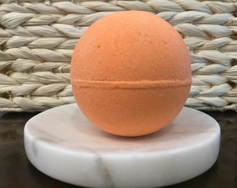 Blood Orange Smoothie Foaming Bath Bomb! 4 oz,  Handmade Bath Bombs, Coconut Oil, Sweet Orange Fragrance
