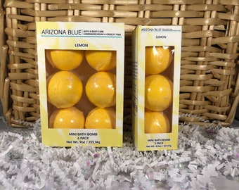 SALE!! Bath Bomb 3 & 6 Packs, Happy Yellow Lemon Color and Fragrance, Bright Yellow Bath Fizzy, Wholesale bath bombs, Ready to Ship Gift Set