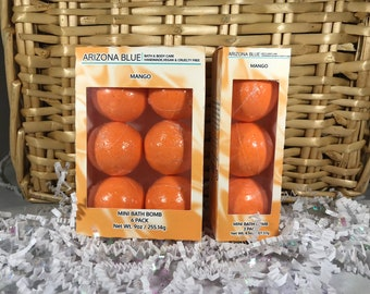 SALE Mango Orange Bath Bomb Multipacks // Bath Bomb 3 & 6 Pack // Great Value, Gift Set // Handmade, Vegan and Cruelty Free // Wholesale