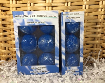 SALE!! Bath Bomb 3 & 6 Packs, Dark Blue Pure Seduction Color and Fragrance, Blue Bath Fizzy, Wholesale bath bombs, Ready to Ship Gift Set