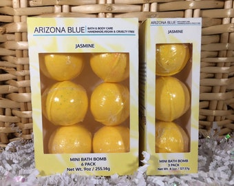 SALE!! Bath Bomb 3 & 6 Packs, Bright Yellow Jasmine Color and Fragrance, Yellow Bath Fizzy, Wholesale bath bombs, Ready to Ship Gift Set