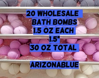 "20 Assorted Bath Bombs // 1.5"" 1.5oz Each (30oz)"
