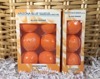 SALE Blood Orange Bath Bomb Multipacks, Bath Bomb 3 & 6 Pack, Great Value, Gift Set,Handmade, Vegan and Cruelty Free