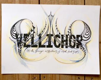 Vellichor Word Art