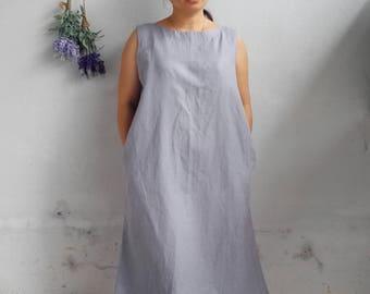 Linen Dress / Sleeveless Linen Dress