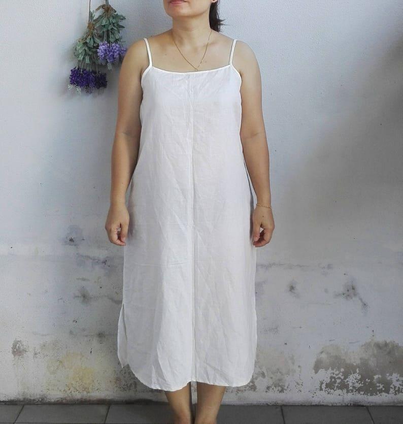 cccde5d254 Linen Slip Dress   Women Slip Dress Bride Slip Dress in White
