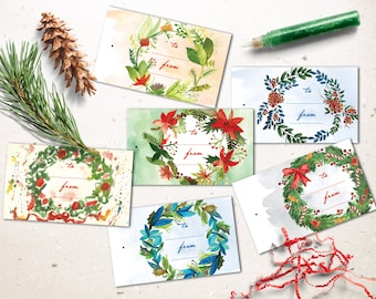 Christmas Tags, Printable Christmas Tags, Instant Download Christmas Gift Tags, Christmas Favor Tags Printable