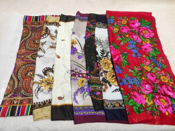 Set of 8 Russian Shawl, Woman's Shawl, Vintage Sha