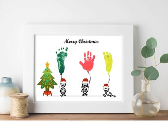 Diy Handprint Art Etsy