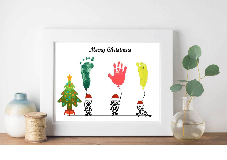 Personalisierte DIY Weihnachtsgeschenke DIY Handabdruck | Etsy