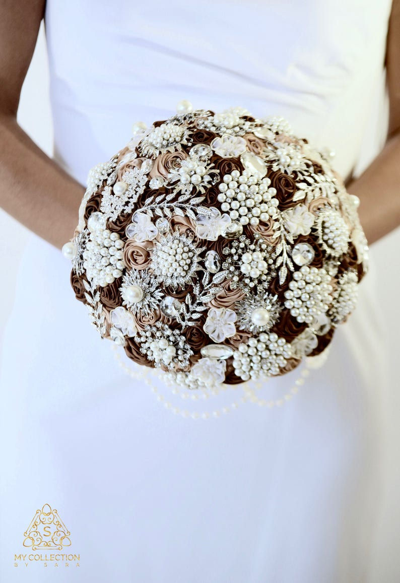 Full Price !!!Ready to Ship 10 Stunning Bling Diamond Satin Rose Custom Brooch Bouquet Plus Combo Bridesmaid Bouquet Corsage Boutonniere