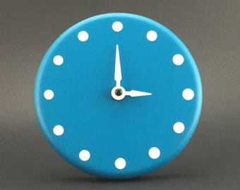Turquoise desk clock Australian handcrafted
