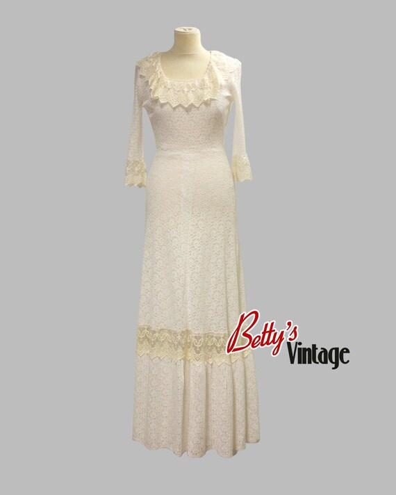 Vintage 1970 bohemian long dress, Bohemian vintage