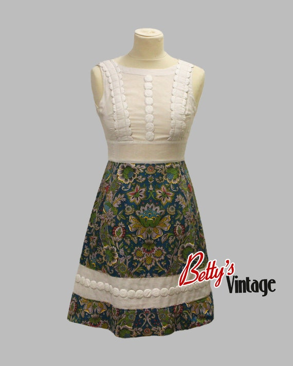Vintage dress 1960's hippie chic, Vintage 1960's h