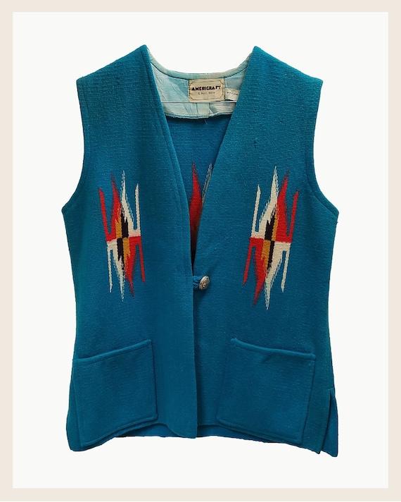 Vintage Chimayo ortega's vest, vintage vest chimay