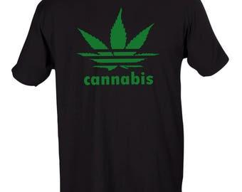 Cannabis Adidas Spoof Crew Neck Shirt