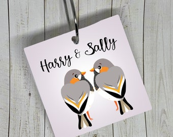 Canary Personalized Cage Name Plate Tags or Ornaments