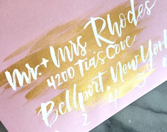 Calligraphy and Watercolor Envelopes