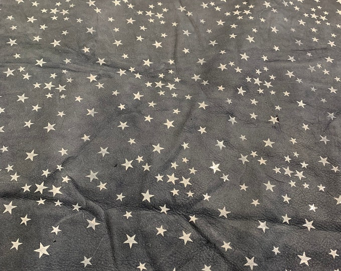 LIMITED OFFERING: Navy Little Stars Perfect for Handbags, Shoes, Garments, Accessories, Earrings and Leather Crafts