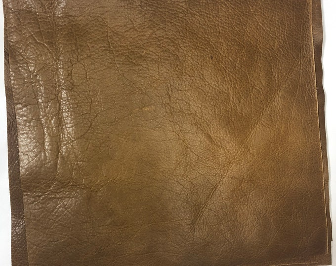12 x 12 CUTTINGS Espresso Distressed Cow Leather. Great for Handbags, Garments, Shoes, Accessories, Earrings, Jewelry and Leather Craft