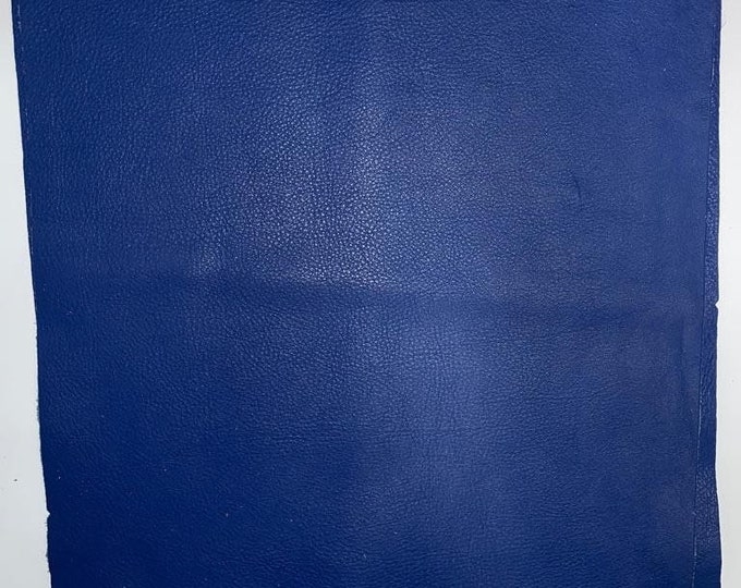 12 x 12 Pieces Royal Blue Cow Leather: Ultramarine Natural Grain 3 oz Cow Leather. Perfect for Handbags, Shoes, Crafts, Accessories