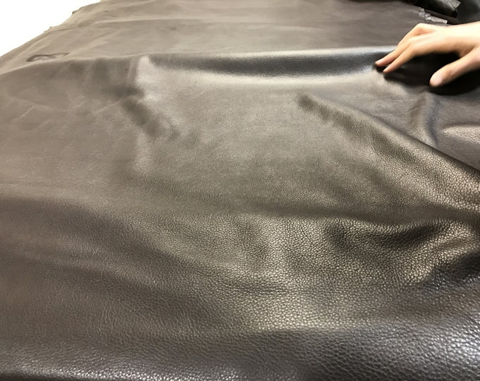 Chocolate Brown Leather: 3 oz  Natural Grain Cowside Leather. Perfect for Handbags, Shoes, Garments, and Leather Crafts
