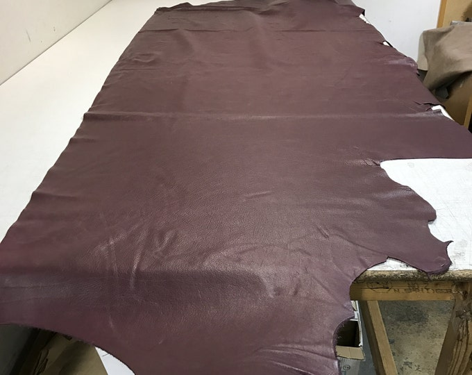 Burgundy Leather: Natural Pebble Grain Black 3 oz Cowhide Leather. Perfect for Handbags, Shoes, Garments, and Leather Crafts!