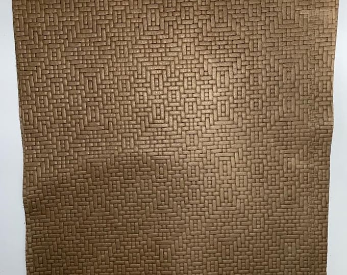 """12"""" X 12"""" Truffle Weave Embossed Leather Pieces:  2.5-3.0 oz (1.1 - 1.3 mm) Cow Side Leather PERFECT for Leather Crafts, Handbags"""