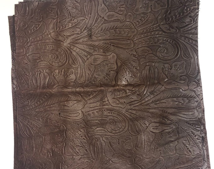 12 x 12 Brandy Western Tool Cow Leather. Perfect for Handbags, Leather Earrings, Shoes, Garments, Leather Crafts