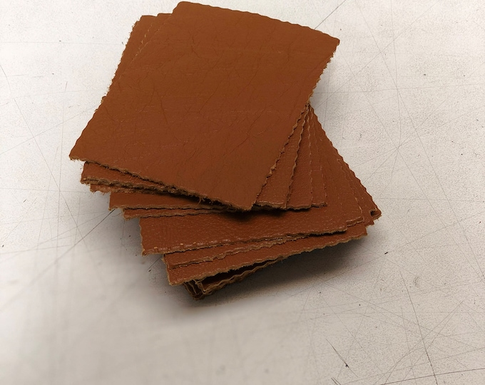 Whiskey Cow Leather Pieces 3.25 inches x 4.5 inches Piece. Perfect for DIY Crafts, and Small Leather Goods