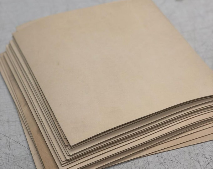 12 x 12: Natural Tooling Craft Cow Leather (3.5-4 OZ) Perfect for Handbags, Leather Crafts, DIY, Jewelry, Printing.