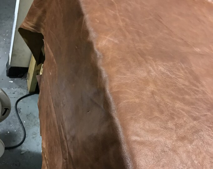 Distressed Leather: Rust Cow Leather 3 OZ (1.1-1.3 mm) 12'' x 12'' Pieces Perfect for Handbags, Shoes, Leather Crafts, Accessories